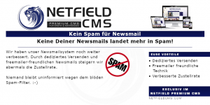 Newsmails - bei uns kein SPAM - Netfield CMS